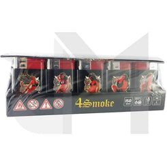 30 x 4Smoke Maxx Turbo Windproof Printed Lighter
