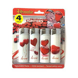 12 x 4Smoke 4 Pack Electronic Printed Lighters - DY007