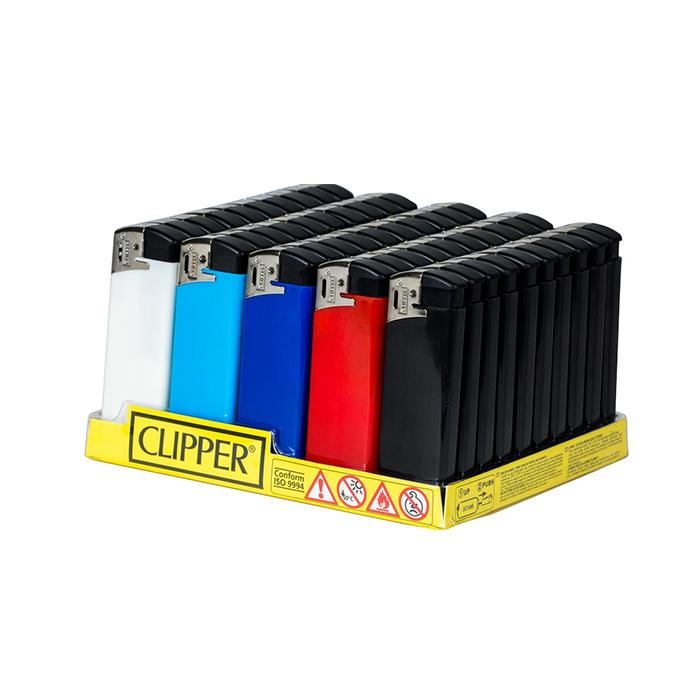 50 Clipper Flat Fit Translucent Electronic Lighters