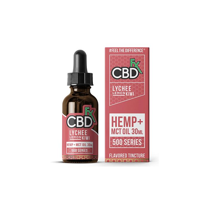 CBDfx Lychee Lemon Kiwi 30ml CBD Tincture Oil - 500/1000/1500 MGs