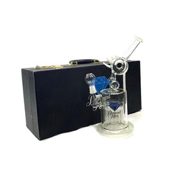 Diamond Haze Single Perculator Glass Bong with Case - XD53