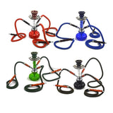 Small 3 Hose Shisha Hookah - Assorted Colours