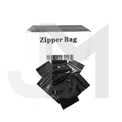 Zipper Branded 50mm x 50mm  Black Baggies
