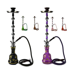 Large 1 Hose Shisha Hookah - Assorted Colours