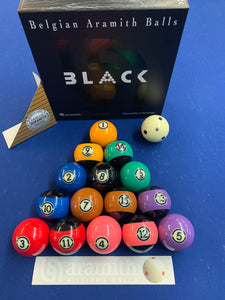 Aramith Black Pool Ball Set