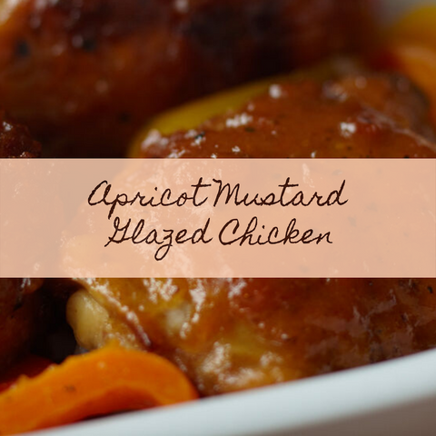 Apricot Mustard Glazed Chicken prepared