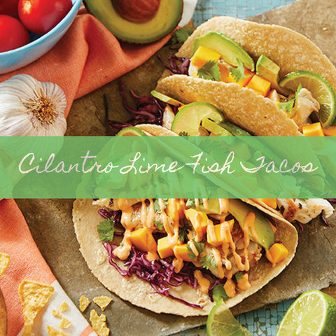 image of prepared fish tacos using Stonewall Kitchen Cilantro Lime Salad Dressing