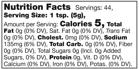 Stonewall Kitchen Blue Cheese Herb Mustard Nutrition Facts SKU 120825