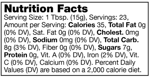 Stonewall Kitchen Fig & Ginger Jam Nutrition Facts SKU 101320