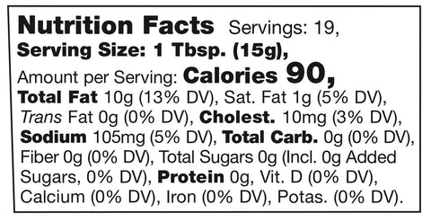Stonewall Kitchen Lemon Herb Aioli Nutrition Facts