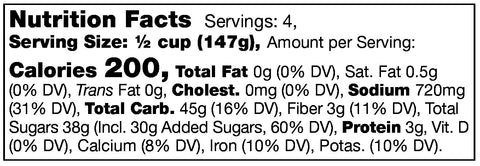 Stonewall Kitchen Mom's Meatloaf Starter Nutrition Facts