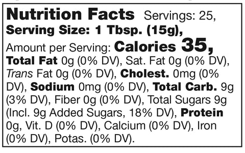 Stonewall Kitchen Orange Cranberry Marmalade Nutrition Facts SKU 101301