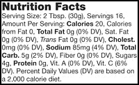 Stonewall Kitchen Pineapple Chipotle Salsa Nutrition Facts SKU 261602