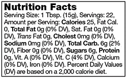 Stonewall Kitchen Strawberry Champagne Jam Nutrition Facts SKU 101362