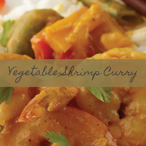 Vegetable Shrimp Curry Recipe Link Image showing prepared item