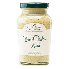 Load image into Gallery viewer, jar of Stonewall Kitchen Basil Pesto Aioli 10.25 oz. 290g made in Maine