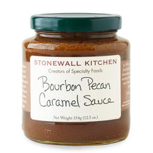 Load image into Gallery viewer, Jar of Stonewall Kitchen Bourbon Pecan Caramel Sauce 12.5 oz.