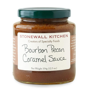 Jar of Stonewall Kitchen Bourbon Pecan Caramel Sauce 12.5 oz.