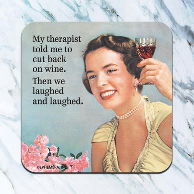 Cut Back on Wine Coaster