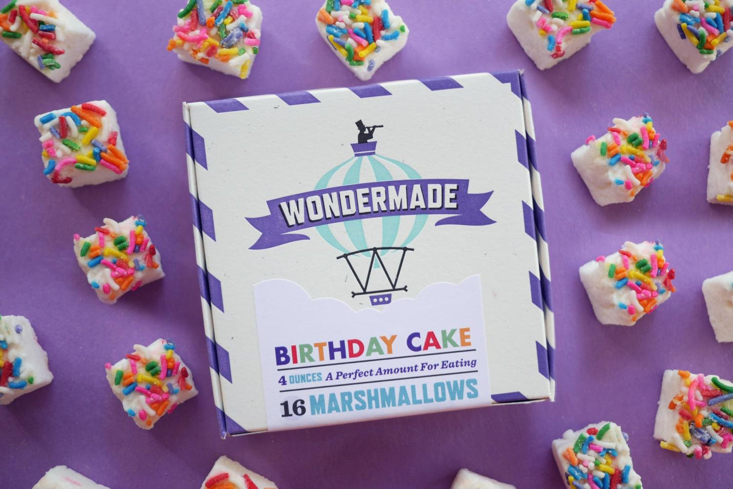 Wondermade Marshmallows Birthday Cake