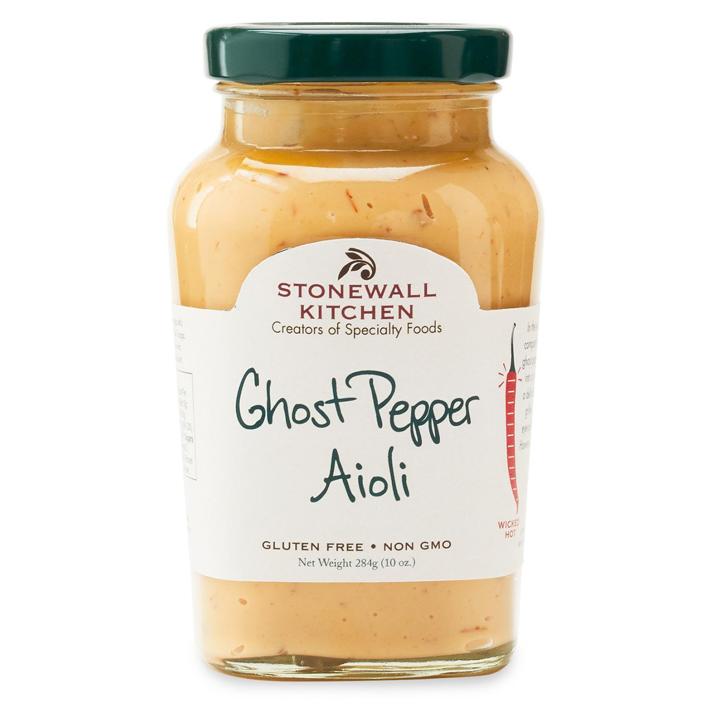 jar of stonewall kitchen ghost pepper aioli 10 oz jar 284g made in maine