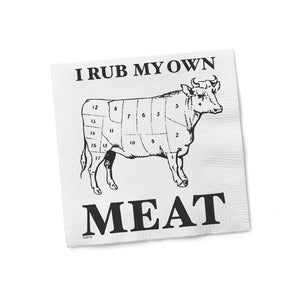 I Rub My Own Meat Cocktail Napkins