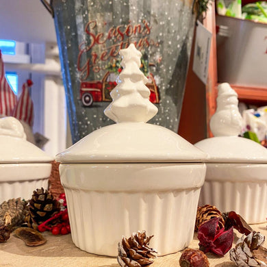 Maine Winter Ramekin Candle Christmas Tree