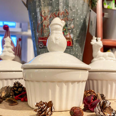 Maine Winter Ramekin Candle Snowman