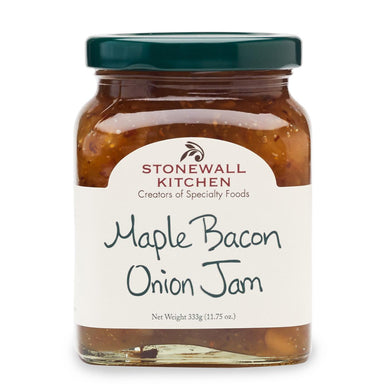 Jar of Stonewall Kitchen maple Bacon Onion Jam 11.75 oz. glass jar made in Maine