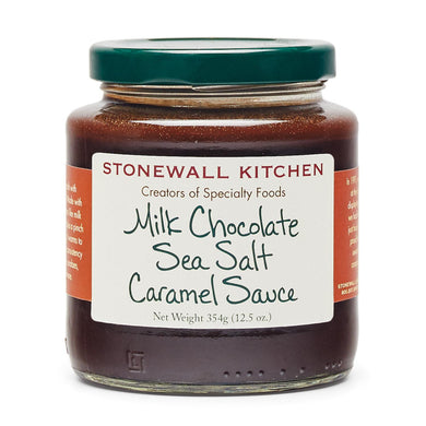 Jar of Stonewall Kitchen Milk Chocolate Sea Salt Caramel Sauce 12.5 oz