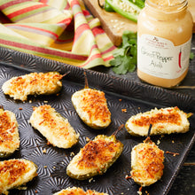 Load image into Gallery viewer, photo of ghost pepper jalapeño poppers made with Stonewall Kitchen Ghost Pepper Aioli