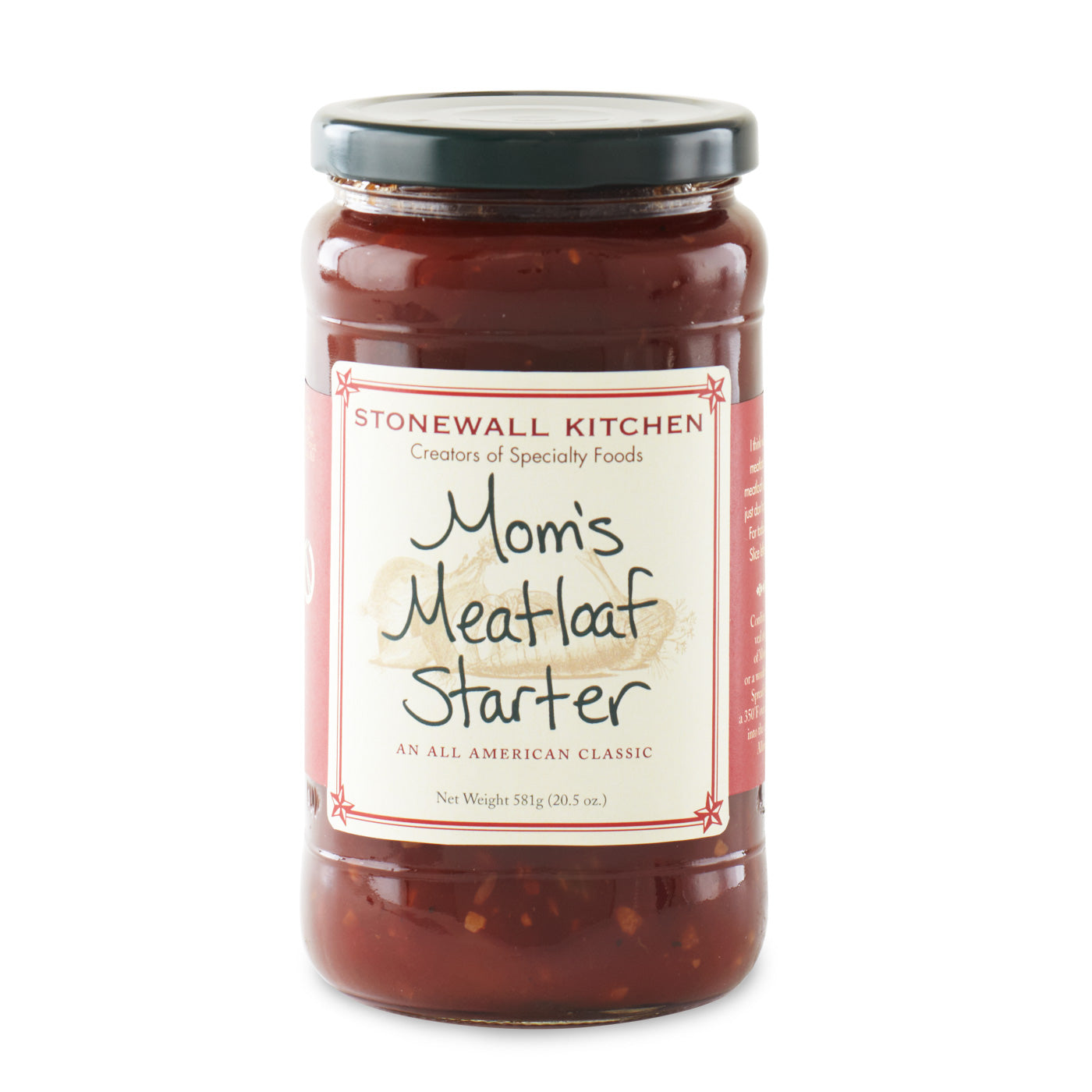 Jar Of Stonewall Kitchen Mom's Meatloaf Starter 20.5 Oz. 581g Made In Maine