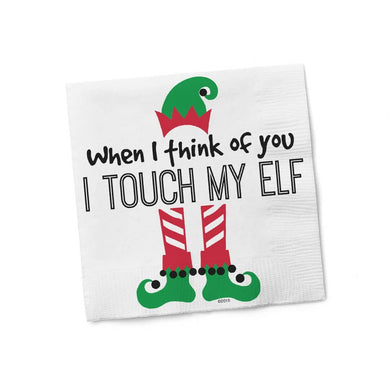 Touch My Elf Cocktail Napkins