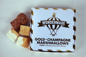 Wondermade Marshmallows Gold & Champagne