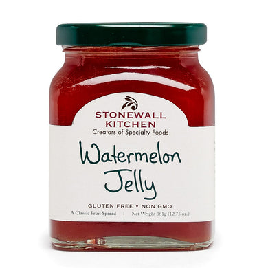 jar of stonewall kitchen watermelon jelly 12.75 oz glass made in Maine