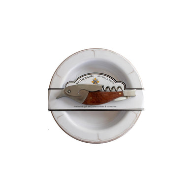 Wine Coaster & Corkscrew Rustica White