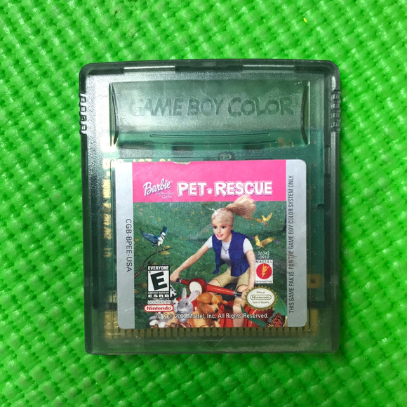 Barbie Pet Rescue - Nintendo Gameboy Color | Cartridge Only
