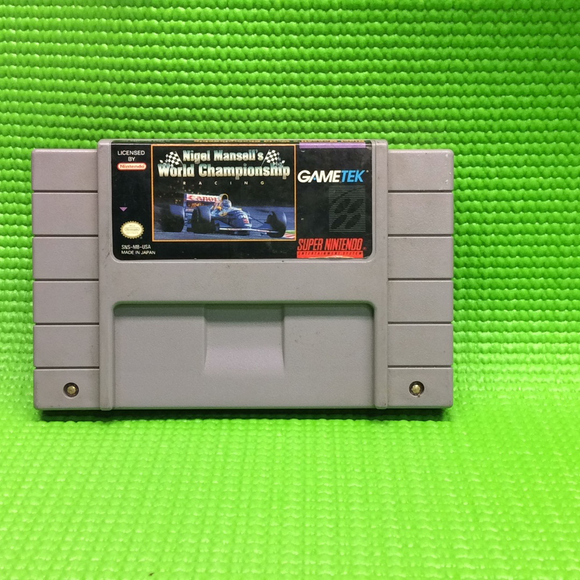 Nigel Mansell's World Championship Racing - Nintendo SNES Super | Cartridge Only