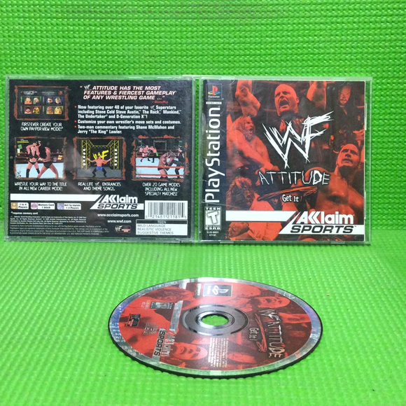 WWF Attitude - Sony PS1 Playstation 1 | Disc Plus