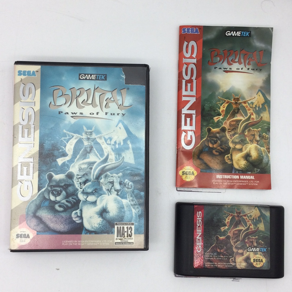 Brutal Paws of Fury - Sega Genesis | Boxed or CIB