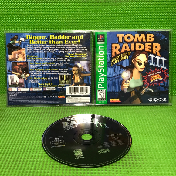 Tomb Raider 3 - Sony PS1 Playstation 1 | Disc Plus