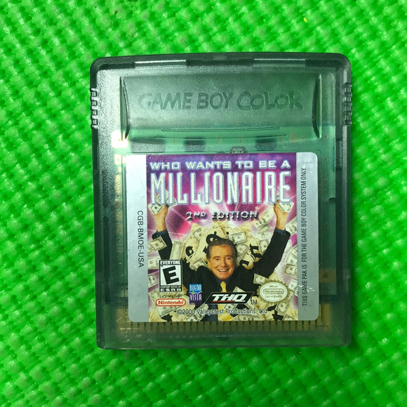 Who Wants To Be A Millionaire 2nd Edition - Nintendo Gameboy Color | Cartridge Only