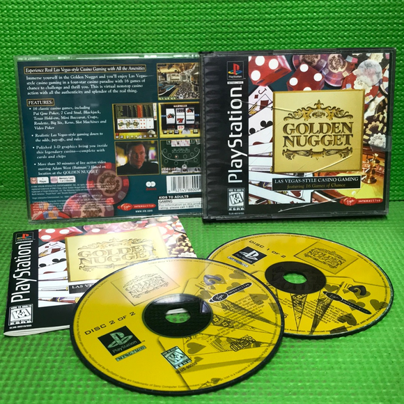 Golden Nugget - Sony PS1 Playstation 1 | Disc Plus