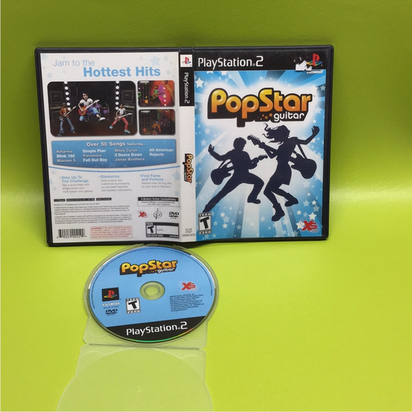 PopStar Guitar - Sony PS2 Playstation 2 | Disc Plus