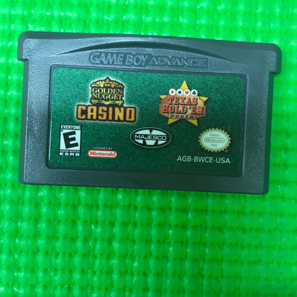 Texas Hold em Poker Golden Nugget Casino - Nintendo GBA Gameboy Advance | Cartridge Only