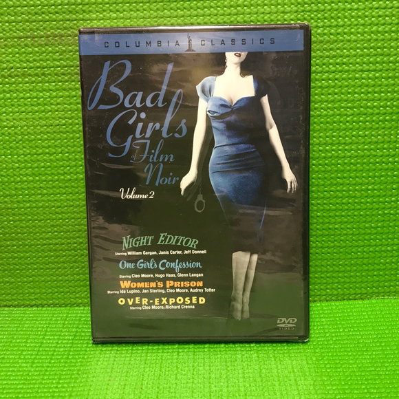 Bad Girls Of Film Noir, Vol. 2: Night Editor / One Girl's Confession / Women's Prison / Over-Exposed - DVD Mystery/Suspense VAR NR | Disc Plus
