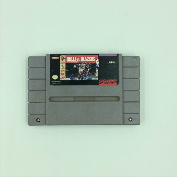 Bulls vs Blazers and the NBA Playoffs - Nintendo SNES Super | Cartridge Only
