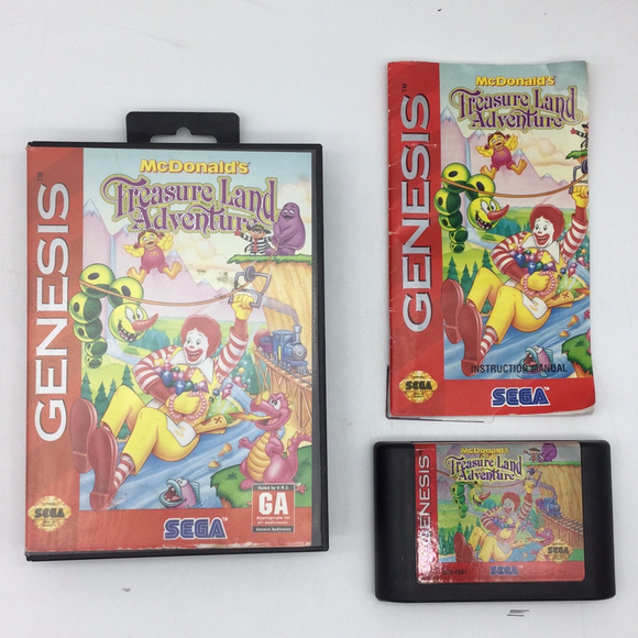 McDonald's Treasure Land Adventure - Sega Genesis | Boxed or CIB