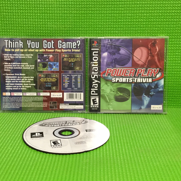 Power Play Sports Trivia - Sony PS1 Playstation 1 | Disc Plus