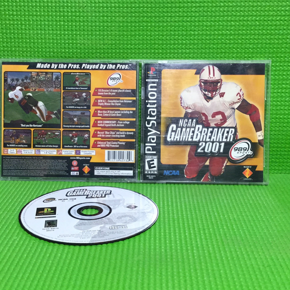 NCAA GameBreaker 2001 - Sony PS1 Playstation 1 | Disc Plus